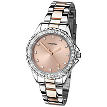 Buy Sekonda 4254.27 Women's Rose Gold Plated Two Tone Bracelet Strap Watch, Rose Gold/Silver Online at johnlewis.com