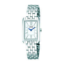 Buy Lorus RRW63DX9 Women's Slim Stainless Steel Bracelet Watch, Silver Online at johnlewis.com