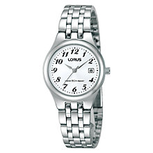 Buy Lorus RH725AX9 Women's Stainless Steel Date Watch, Silver Online at johnlewis.com
