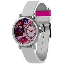 Buy Tikkers TK0071 Children's Castle Watch, White / Pink Online at johnlewis.com