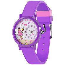 Buy Tikkers TK0075 Children's Fairy Watch, Purple Online at johnlewis.com
