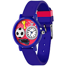 Buy Tikkers TK0068 Children's Football Watch, Blue / Red Online at johnlewis.com