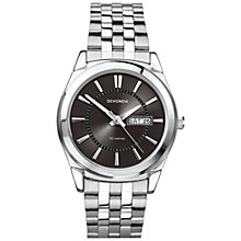 Buy Sekonda 3479.27 Men's Bracelet Strap Watch, Black / Silver Online at johnlewis.com