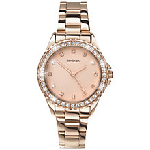 Buy Sekonda 4253.27 Women's Temptation Crystal Bezel Bracelet Strap Watch, Rose Gold Online at johnlewis.com