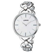 Buy Lorus RRW13EX9 Women's Stainless Steel Bracelet Link Strap Watch, Silver Online at johnlewis.com