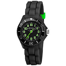 Buy Tikkers TK0064 Children's Watch,  Black/Green Online at johnlewis.com