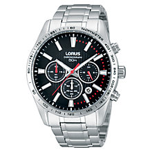 Buy Lorus Men's Exclusive Stainless Steel Chronograph Watch Online at johnlewis.com