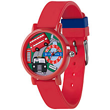 Buy Tikkers TK0076 Children's Bus Watch, Red Online at johnlewis.com