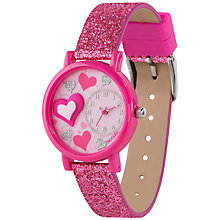 Buy Tikkers TK0072 Children's Glitter Watch, Pink Online at johnlewis.com