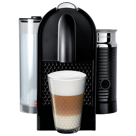 Buy Nespresso U & Milk Coffee Machine by Magimix, Black Online at johnlewis.com