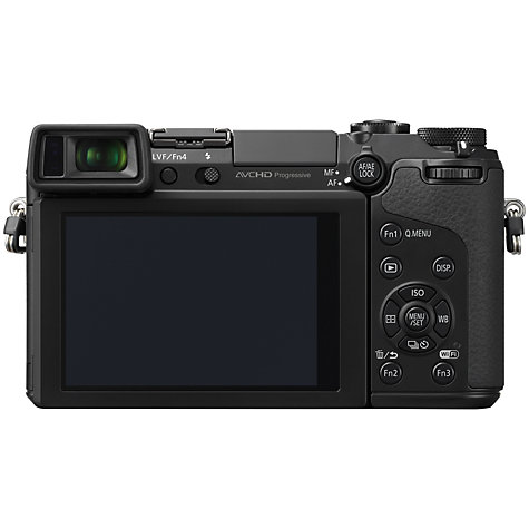 "Buy Panasonic Lumix DMC-GX7 Compact System Camera with 20mm IS Lens, HD 1080p, 16MP, EVF, Wi-Fi, NFC, 3"" LCD Online at johnlewis.com"
