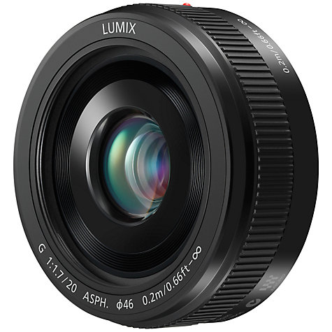 Buy Panasonic H-H020A LUMIX G 20mm f/1.7 II ASPH Standard Lens Online at johnlewis.com