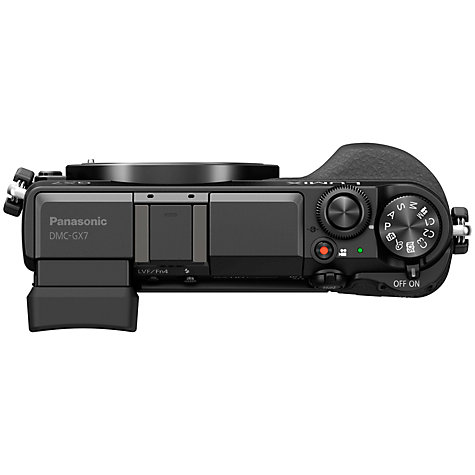 "Buy Panasonic Lumix DMC-GX7 Compact System Camera, HD 1080p, 16MP, EVF, Wi-Fi, NFC, 3"" LCD, Body Only Online at johnlewis.com"