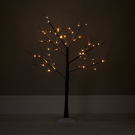 Buy John Lewis Outdoor Pre-lit Multi Function Snowy Paper Tree, 4ft Online at johnlewis.com