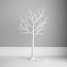 Buy John Lewis Outdoor Pre-lit Paper Tree, White, 4ft Online at johnlewis.com
