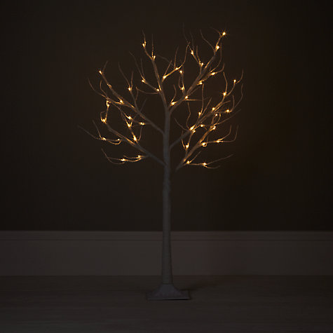 Buy John Lewis Oudoor Pre-lit Paper Tree, White, 4ft Online at johnlewis.com