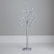 Buy John Lewis Pre-lit Paper Tree, Silver, 4ft Online at johnlewis.com