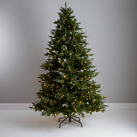 Buy John Lewis Pre-lit Dual Light Christmas Tree, Green, 7.5ft Online at johnlewis.com