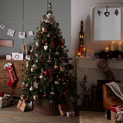 Buy John Lewis Berry & Pinecone Christmas Tree, Green, 7ft Online at johnlewis.com