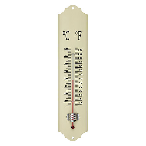 Buy Fallen Fruits Enamel Thermometer, Cream Online at johnlewis.com