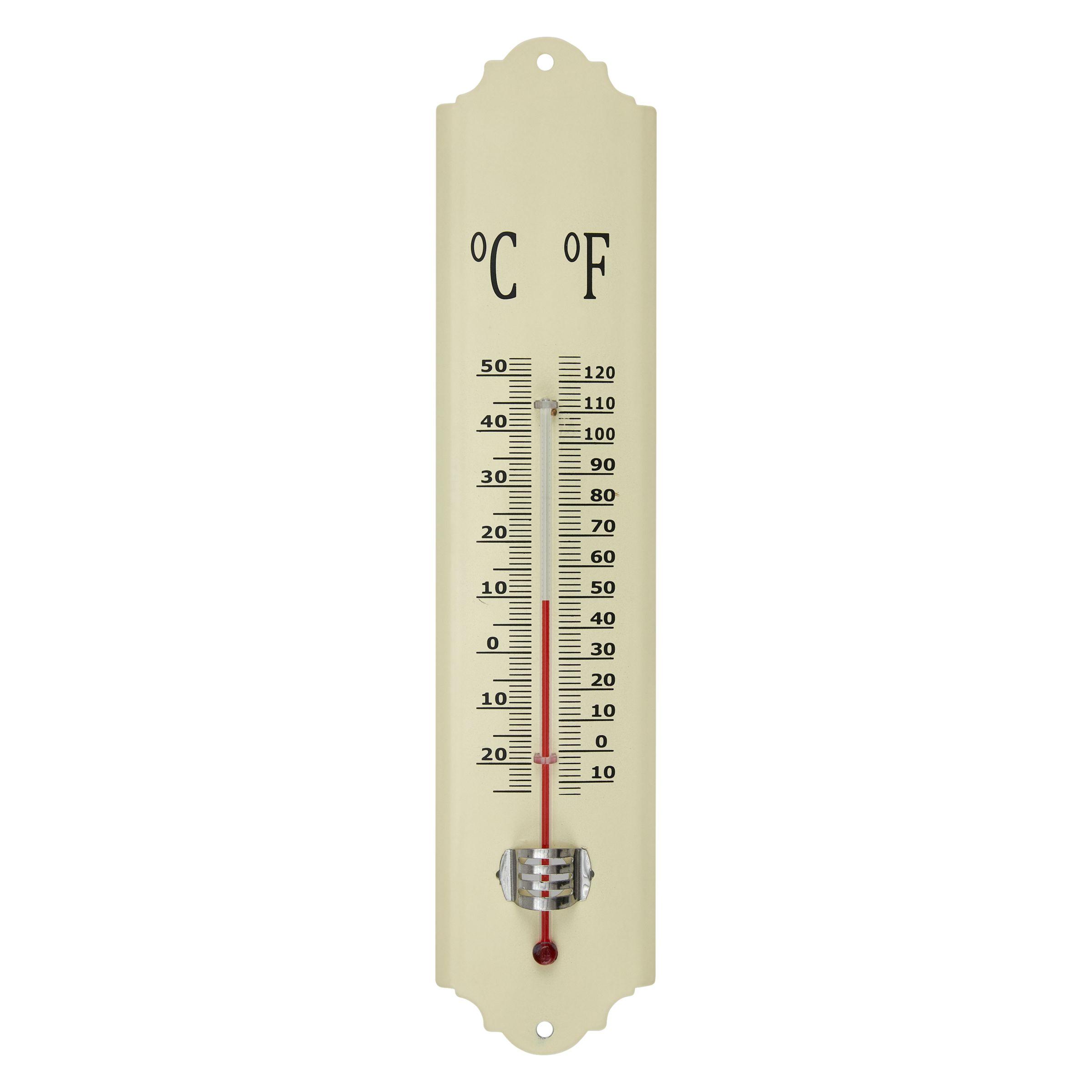 Fallen Fruits Enamel Thermometer, Cream