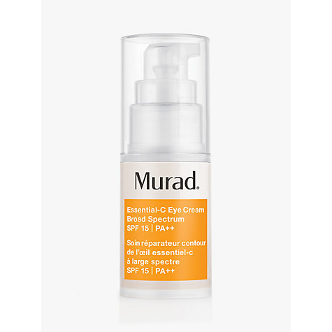 Buy Murad Essential-C Eye Cream Broad Spectrum SPF 15 PA++, 15ml Online at johnlewis.com