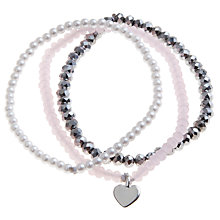 Buy John Lewis Girl Heart String Bracelet, Pack of 3 Online at johnlewis.com