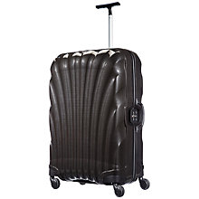 Buy Samsonite Lite Locked 75cm 4 Wheel Large Spinner Suitcase, Black Online at johnlewis.com