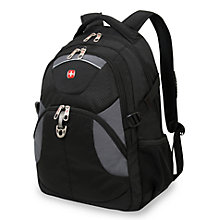 "Buy Wenger 15.6"" Laptop Backpack, Black Online at johnlewis.com"