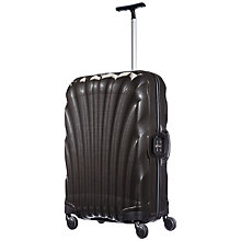 Buy Samsonite Lite Locked 69cm 4 Wheel Medium Spinner Suitcase, Black Online at johnlewis.com