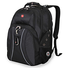 "Buy Wenger Scansmart 17"" Laptop and Tablet Backpack, Black Online at johnlewis.com"