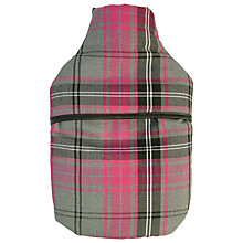 Buy Vagabond Pink Tartan Hot Water Bottle Online at johnlewis.com