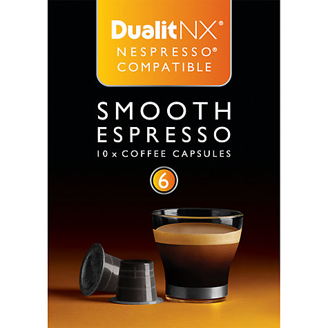 Buy Dualit 15703 Smooth Espresso NX Capsules Online at johnlewis.com