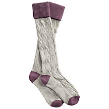 Buy Fat Face Cotton Cable Knee High Socks Online at johnlewis.com