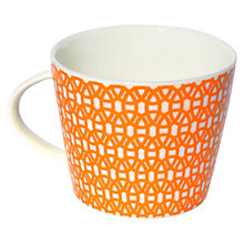 Buy Scion Lace Mug, 0.35L, Orange Online at johnlewis.com