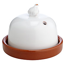Buy John Lewis Al Fresco Garlic Roaster, White Online at johnlewis.com