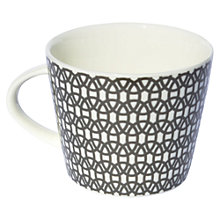 Buy Scion Lace Mug, 0.35L, Charcoal Online at johnlewis.com