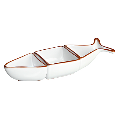 John Lewis Al Fresco Three Part Fish Serving Dish