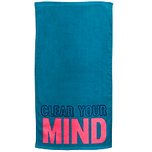 Buy John Lewis Clear Your Mind Towel, Teal Online at johnlewis.com