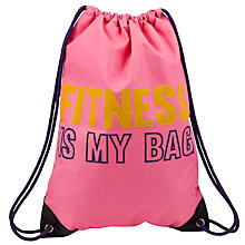 Buy John Lewis Fitness Is My Bag Gymsack, Pink Online at johnlewis.com