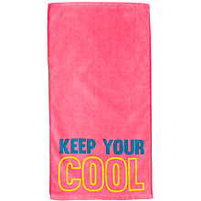 Buy John Lewis Keep Cool Yoga Towel, Pink Online at johnlewis.com