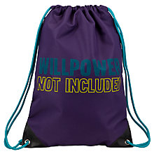 Buy John Lewis Willpower Gymsack, Purple Online at johnlewis.com