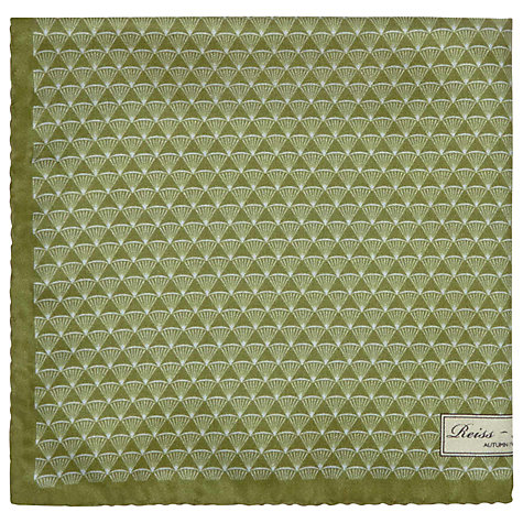 Buy Reiss Twist Micro Fan Print Pocket Square Online at johnlewis.com