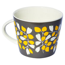Buy Scion Rosehip Mug, 0.35L, Charcoal & Yellow Online at johnlewis.com
