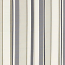 Buy John Lewis Finlay Stripe Curtain, Steel Online at johnlewis.com