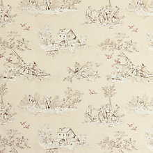 Buy John Lewis Leckford Toile Curtain, Bracken Online at johnlewis.com