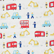 Buy John Lewis Men at Work Curtain, Multi Online at johnlewis.com