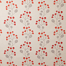 Buy John Lewis Seedlings Curtain, Red Online at johnlewis.com