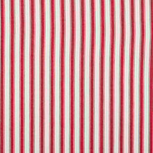 Buy John Lewis Wide Ticking Stripe Curtain, Red Online at johnlewis.com