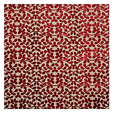Buy John Lewis Velvet Leaf Curtain, Red Online at johnlewis.com